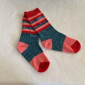 BURBERRY Cashmere Wool Unisex Patchwork Socks